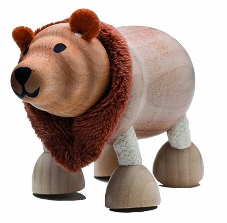 Anamalz Wild Brown Bear Wooden Toy
