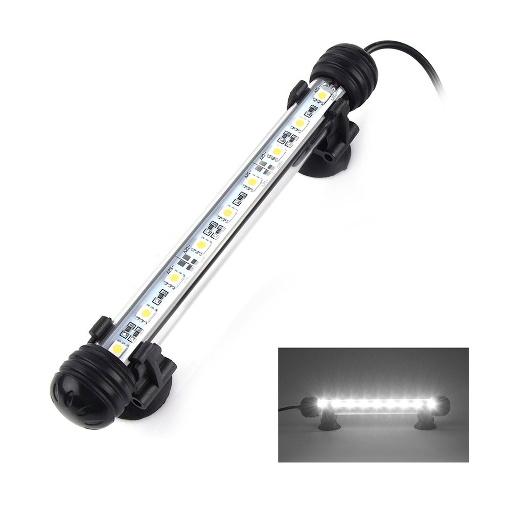 Smiful LED Aquarium Light, Fish Tank Light Submersible Underwater Crystal Glass LEDs Lights