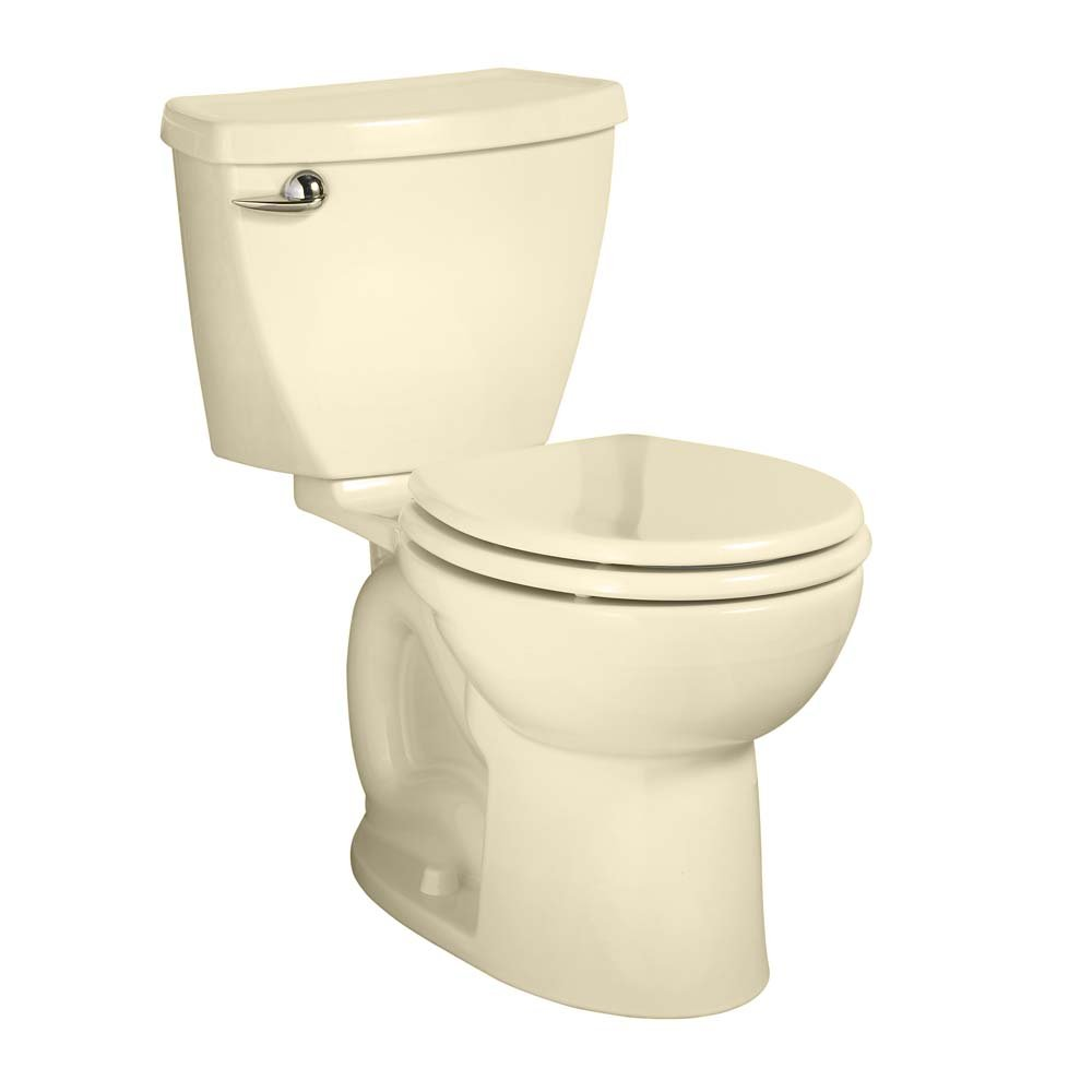 American Standard 270BA001.021 Cadet 3 Right Height Round Front Two-Piece Toilet with 12-Inch Rough-In, Bone by American Standard
