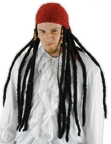 Dread Pirate Red (Pirate Scarf with Dreads Adult)