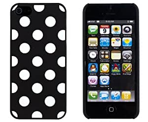 Black Polka Dot Embossed Slim Fit Hard For SamSung Galaxy S3 Phone Case Cover 5 (ATT, Verizon, Sprint, International) - Includes Sunshine Case Keychain Screen Cleaner [Retail Packaging by Sunshine Case]