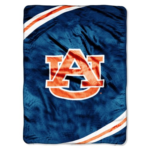 Fleece Auburn Tigers Throw (The Northwest Company NCAA Auburn Tigers Force Royal Plush Raschel Throw Blanket, 60x80-Inch)