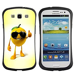 Suave TPU GEL Carcasa Funda Silicona Blando Estuche Caso de protección (para) Samsung Galaxy S3 I9300 / CECELL Phone case / / Funny Orange /