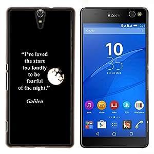 YiPhone /// Prima de resorte delgada de la cubierta del caso de Shell Armor - Galilei Cita Moon Stars Cita - Sony Xperia C5 Ultra