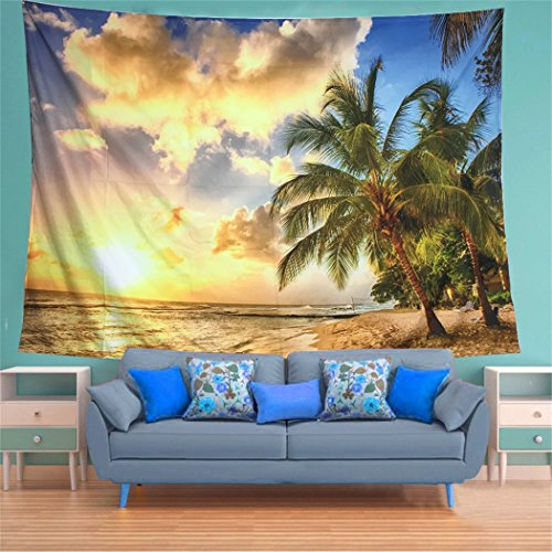 Generleo Tapestry Wall Hanging Sunset Tapestry Ocean Tapestry Beach Wall Tapestry Seascape Tapestry Colorful Tapestry Retro Hippie Tapestry for Bedroom Home Decor