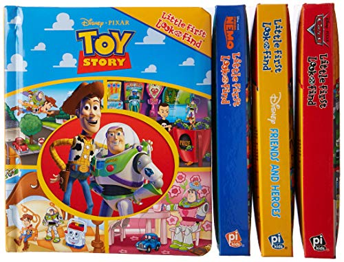(Disney Pixar Toy Story, Cars, Finding Nemo, and more! - Little First Look and Find 4 Book Vinyl Bag Set - PI Kids )