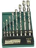 Mannesmann - M54309 - Coffret de forets de maçonnerie pro - 8 pièces