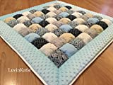 Baby Boy Bubble Puff Quilt Biscuit Quilt for Floor Time
