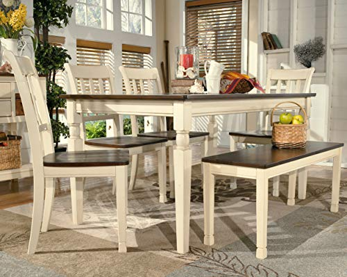home & kitchen, furniture, kitchen & dining room furniture,  tables  picture, Ashley Furniture Signature Design » Whitesburg Dining Room Table » Rectangular » Vintage Casual » Brown/Cottage White deals5