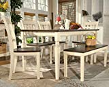 Signature Design by Ashley - Whitesburg Rectangular Dining Room Table - Casual Style - Brown/Cottage White