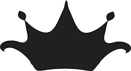 Amazon com: Simple Black Shadow Silhouette Regal Royal Crown