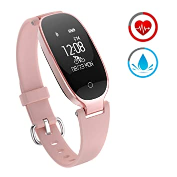 ZKCREATION Fitness Tracker for Women Activity Watch and Heart Rate Monitor IP67 Waterproof Smart Bracelet with Sleep Monitor Pedometer Calorie ...