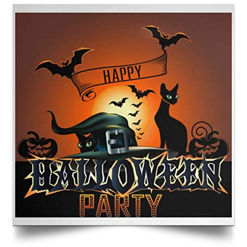 October 30 Halloween Eve (Molomon Halloween 31 October 2019 Poster All Hallows' Eve Posters Wall Full Size Birthday Gifts Decor Bedroom, Living Room 24x24 Print - White, 30