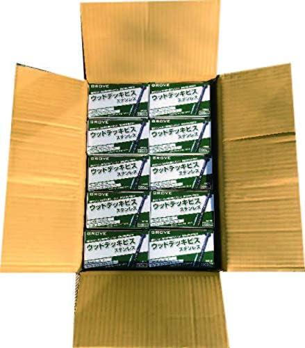 [スポンサー プロダクト]GROVE ウッドデッキビス ステンレスSUS304 小箱×10箱 計1000本入 (ビス長さ, φ5.5×75㎜)