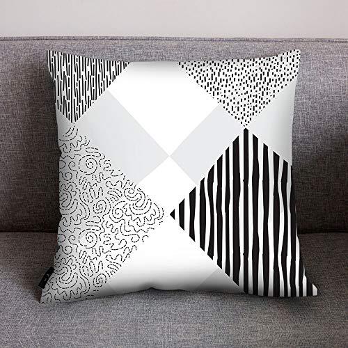 AOJIAN Home Decor Black White Decorative Cushion Cover Pillow Protectors Bolster Pillow Case Pillowslip,Throw Pillow Covers