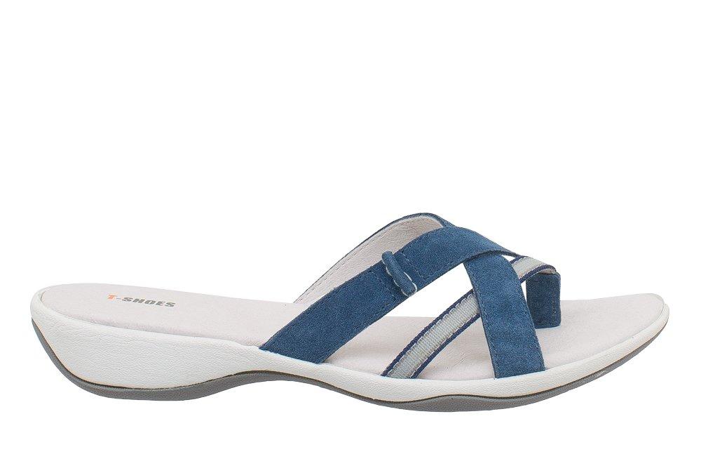 T-Shoes en - Minorca T-Shoes TS020 - Sandale suede en suede Bleu 61a1f62 - piero.space