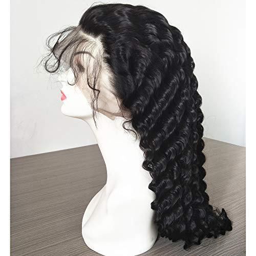 Lace Front Wig European Human Hair Deep Wave Natural Black Color Human Hair Wig Glueless Virgin Hair 30 Inch