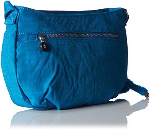 Kipling Syro K1316313Z Damen Umhängetaschen 31x22x13 cm (B x H x T), Orange (Neon Peach 13Z) Blau (Icy Blue 10n)
