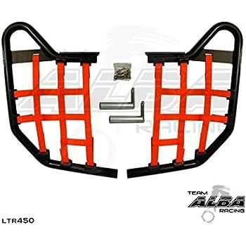 Amazon.com: Suzuki Ltr 450 propeg Nerf Bars Negro, Rojo ...