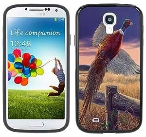 Pheasant Bird Handmade Samsung Galaxy S4 Black Bumper Hard Plastic Case