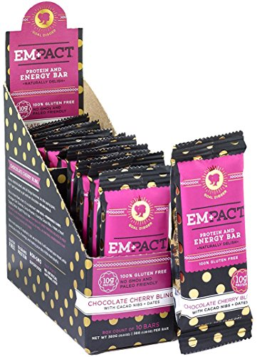 EMPACT BARS Amazons #1 Ranked All Natural, NON-GMO, Gluten FREE Protein and Energy BAR for Women: Chocolate Cherry (Bio Protein Bar Peanut Butter)