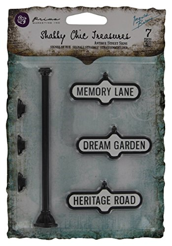 Prima Marketing 366761 Shabby Chic Treasures Metal-Antique Street Signs 3-Pack