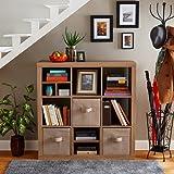 Better Homes and Gardens 9-cube Organizer Storage Bookcase Bookshelf Weathered