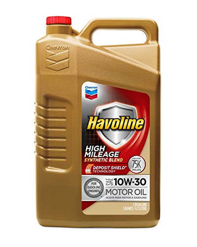 (Havoline 10W30 High Mileage Synthetic Blend, 5 Quarts, 1 Pack)