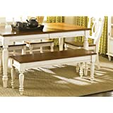 Liberty Furniture Low Country Dining Bench in Linen Sand