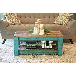 turquoise-combo-coffee-table-with-shelf