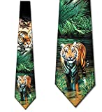 Tiger Tie Mens Neckties Tie by Three Rooker