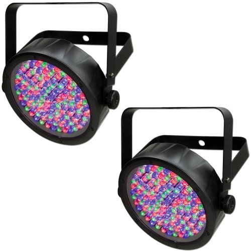 (2) Chauvet DJ SlimPar 56 LED DMX Slim Par Can Stage Pro RGB Lighting Effects ()