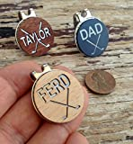 Golf Ball Marker and Magnetic Hat Clip Custom Engraved Personalized REAL Wood Golfer Markers Accessory