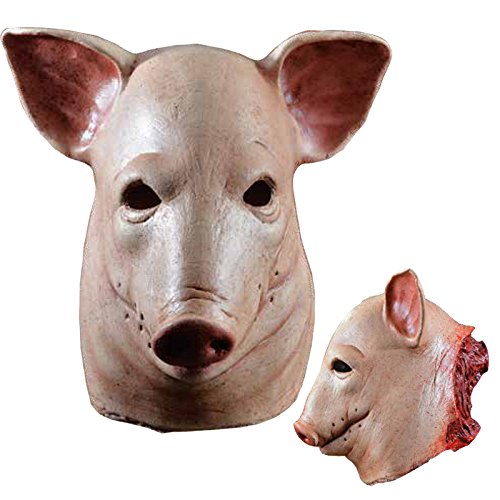 Morris Costumes Halloween Party Fashion Holiday Apparel Outfit Blood Pig Latex Adult Cool Mask (Creepy Mask For Sale)