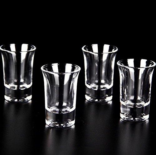 HOMANDA Pack of 12 Clear 1.5oz Heavy Base Shot Glass