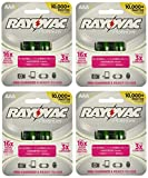 Rayovac 16 x Platinum pre-charged (new hybrid replacement) 800 mAh Rechargable AAA NiMH Batteries w/free battery holders (16 batteries)