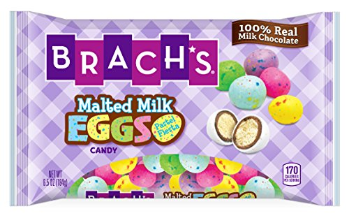 Brach's Pastel Fiesta Chocolate Malted Milk Eggs, 6.5 Ounces