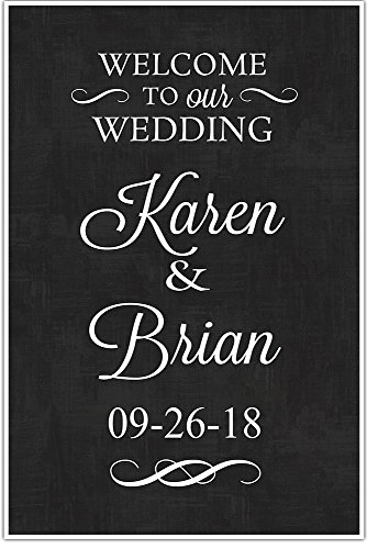Welcome to our Wedding Sign Custom Personalized Chalkboard c