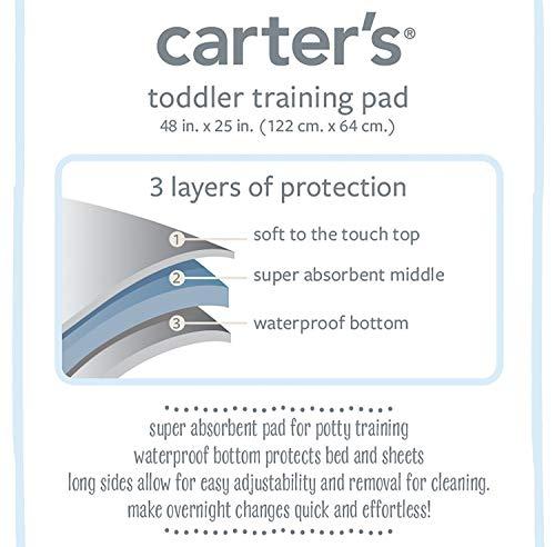 Carter's Waterproof Toddler Training Mattress Pad, White
