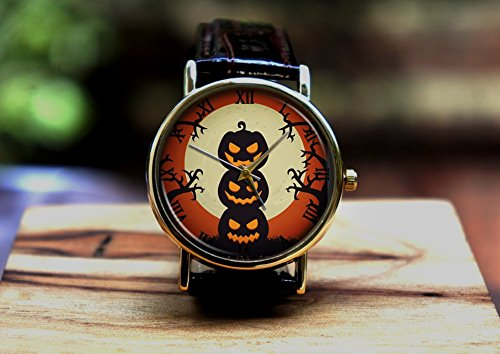 Halloween witch pumpkin witches, watch ,Custom watch,gift watch,decorative watch,Bridesmaid Watch,neutral watch,unique watch,Wedding Watch,]()