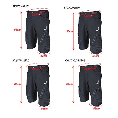 Lixada Baggy Shorts Cycling Bicycle Bike MTB Pants Shorts Breathable Loose  Fit Casual Outdoor Cycling Running ea609a8a9