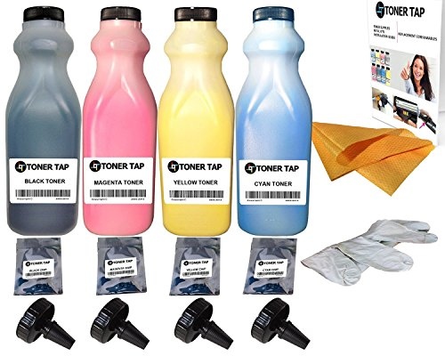 Toner Tap® Refill Kit for Xerox DocuColor 240 242 250 252 260, Xerox DC240, Xerox DC250, Xerox WorkCentre 7655 7665 7675, With Chips -  xe250rf