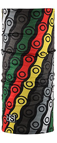 BlackStrap Daily Tube UV Face Mask, Rasta Links, One (Rasta Face)