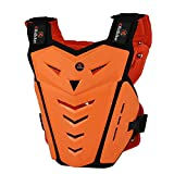Ridbiker Motorcycle Armor Vest Motorcycle Riding Chest Armor Back Protector Armor Motocross Off-Road Racing Vest,Orange