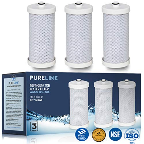 Frigidaire WF1CB and RG-100 NSF & WQA Certified Replacement Water Filter Replacement. Also Fits WFCB, NGRG-2000, NGRG-1000 and Kenmore 46-9910, 46 9906. Designed to Exact Fit of OEM.-PureLine (3 Pack)