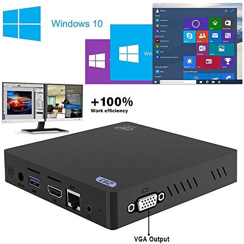 MFY Z83 V MINI PC, ( Fanless Windows 10 Mini Desktop PC , Intel Atom x5-Z8350 Quad-Core, 1.44 GHz up to 1.92 GHz, 2GB RAM+32GB storage, Dual Output – VGA&HDMI)