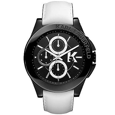 Karl Lagerfeld KL1408 White Leather Black Dial Men's Watch