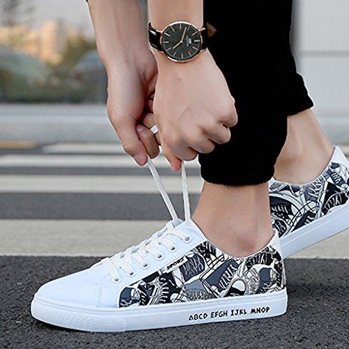 di scarpe Colour3 Scarpe scarpe coreano tela scarpe YaNanHome 43 Colour3 tela di stoffa casual Color di unisex in Size basse vita scarpe O51xqwgxd