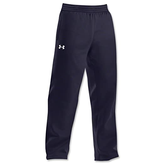 b1141e89 Men's Armour Fleece Open Bottom Team Pants Bottoms by Under Armour,Midnight  Navy/white