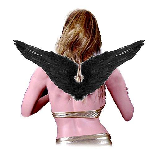 SACASUSA (TM) New Black Feather Angel -